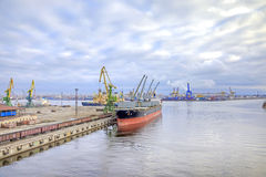 Port of city Saint Petersburg Stock Image