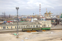 Port of city Saint Petersburg Royalty Free Stock Images