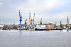 Port of city Saint Petersburg Royalty Free Stock Image