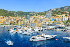 Port and cityscape of Monte Carlo Stock Photography