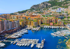 Port and cityscape of Monte Carlo Stock Photos