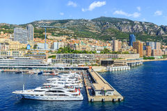 Port and cityscape of Monte Carlo Stock Images
