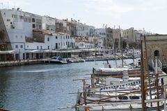 The port of Ciutadella Stock Images