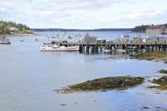 Port Clyde i Maine Arkivbild