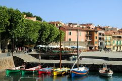 Port of Collioure in France royalty free stock photos