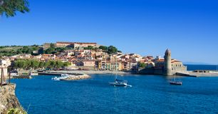 Port of Collioure, France Stock Photos