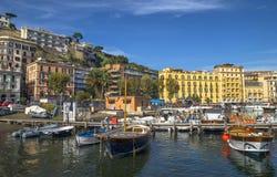 Port coloré de Naples Photo libre de droits