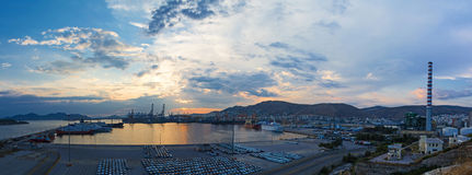 Port commercial Photos libres de droits