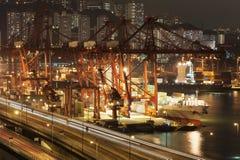 Port commercial de conteneur Image stock