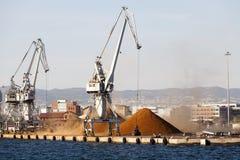 Port commercial de Salonique Images libres de droits
