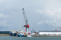 Port commercial, Varberg Images stock
