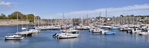 Port of Concarneau in France Stock Image