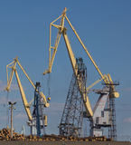 Port constructions Stock Images
