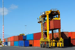 Port Container Carrier Royalty Free Stock Photos