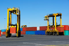 Port Container Carriers Royalty Free Stock Photos