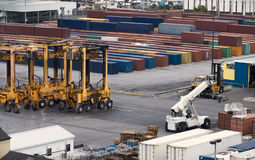 Port container cranes Stock Photography