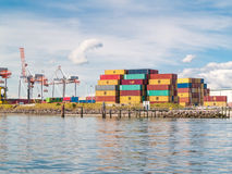 Port container terminal Stock Photography