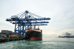 Port container terminal Stock Photos