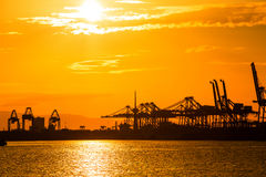 Port container terminal for transportation your product Stock Photos