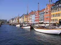 Port Copenhague de Nyhavn Photo libre de droits