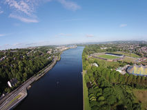 Port of cork Cork natures and rivers aerial pictures  Roi  roi portofcork Royalty Free Stock Images