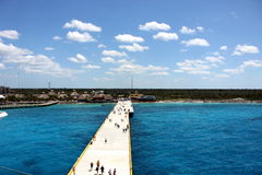Port of Cozumel. Photo of pier at Cozumel in Mexico Stock Photography