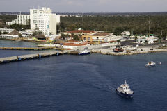 Port of Cozumel, Mexico. Cozumel is a popular resort destination and port of call for cruise ships sailing the western Caribbean Stock Photos