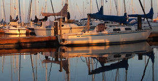 Port crépusculaire 1 Photo stock