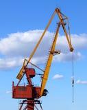 Port crane. Against blue sky royalty free stock image