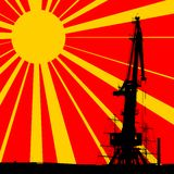 Port Crane Background Stock Image