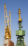 Port Crane. Of commercial dock Royalty Free Stock Image