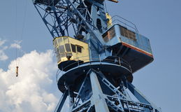 Port crane Stock Image