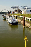 Port crane and  container Terminal Stock Photos