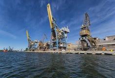 Port crane Stock Images