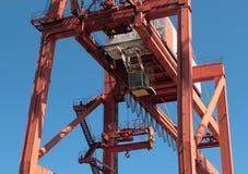 Port crane in Gdynia Stock Photo