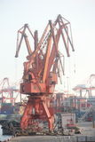 The Port Crane hoisting in SHENZHEN CHINA ASIA Royalty Free Stock Images