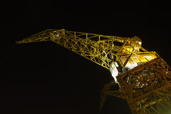 Port crane by night Stock Images