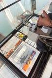 Port crane operator Stock Image