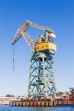 Port crane in South Bay of Sevastopol. Crimea, Russia. Stock Images