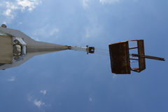 Port crane, a view from below Stock Photos