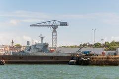 Port crane Royalty Free Stock Images