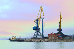 Port cranes Royalty Free Stock Photo