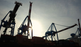 Port Cranes Stock Photos