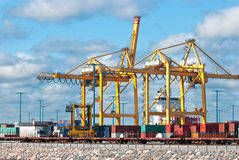 Port cranes. Stock Images