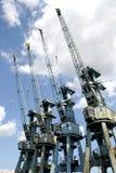 Port cranes Stock Photos