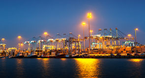 Port with cranes. Algeciras Royalty Free Stock Photography