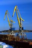 Port cranes #2 Stock Images