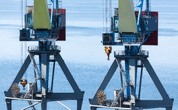 Port cranes Royalty Free Stock Images