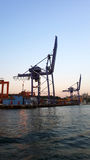Port and Cranes Royalty Free Stock Image