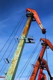 Port cranes Stock Photo
